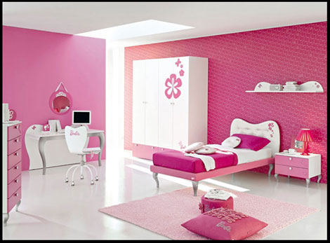 DORMITORIO ROSADO DE NIÑAS - DORMITORIO DE BARBIE - PINK BEDROOM - BARBIE'S BEDROOM - BARBIE'S BEDROOM