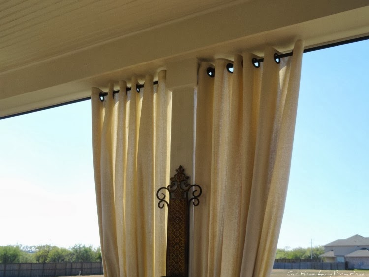 Our Home Away From Home No Sew Outdoor Curtains With Grommets