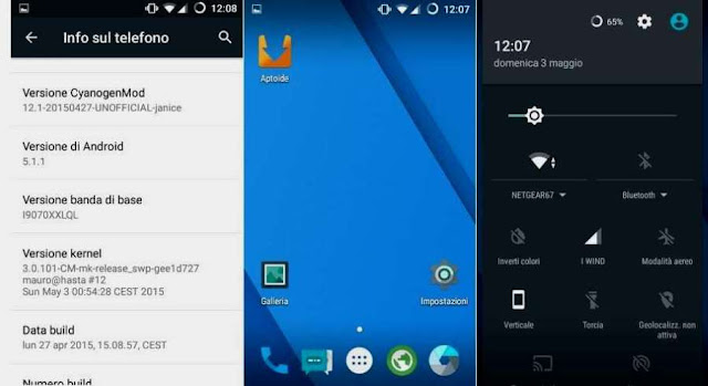 galaxy s advance lollipop roms cm 12.1 update