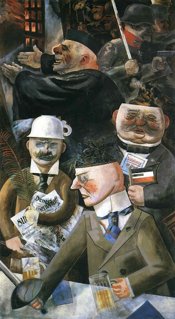 Los pilares de la sociedad, by George Grosz