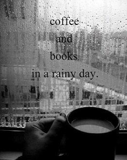 Καφές. Βιβλία. Βροχή.