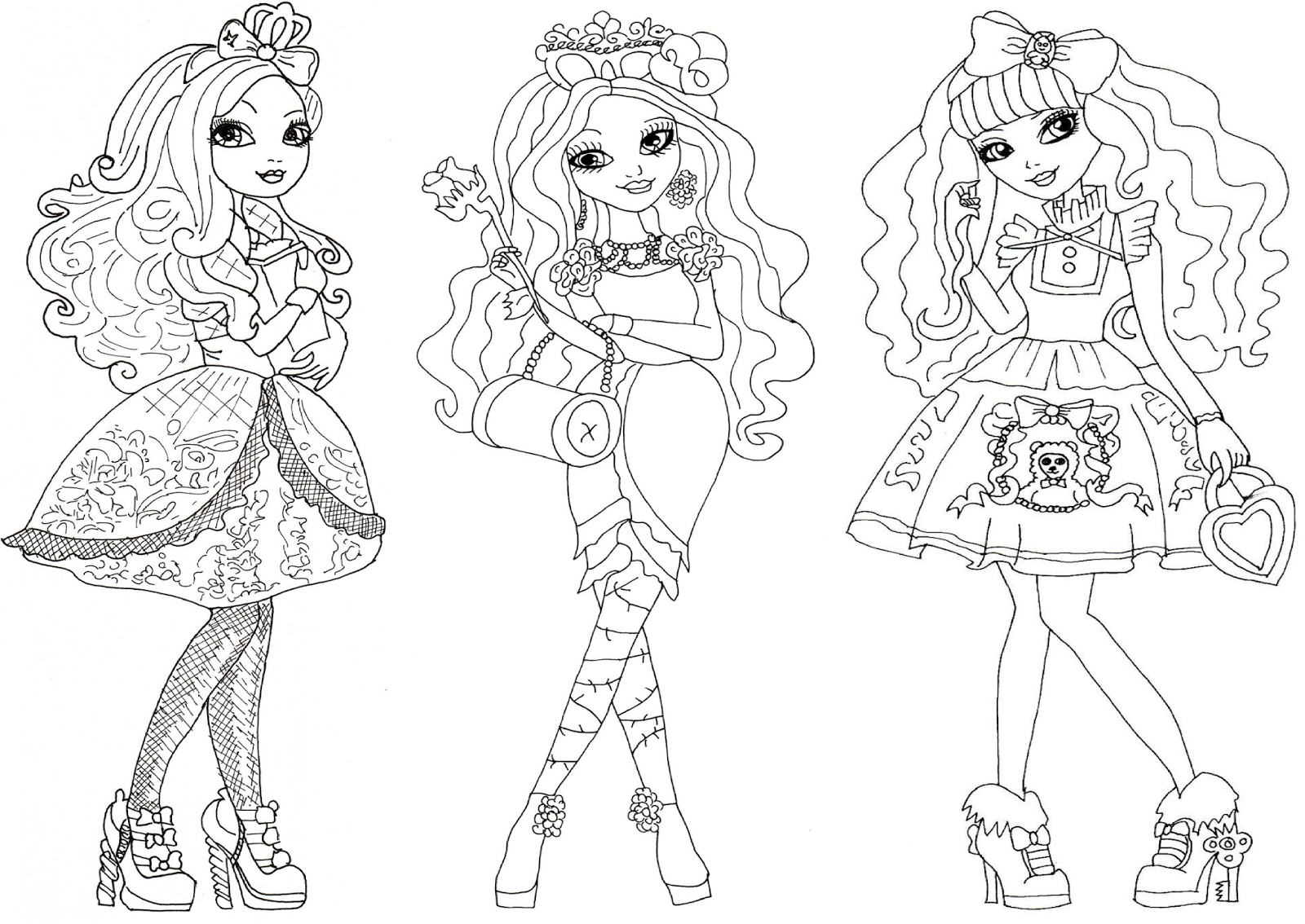 Coloring Pages Ever After High : Free printable ever after high coloring pages october