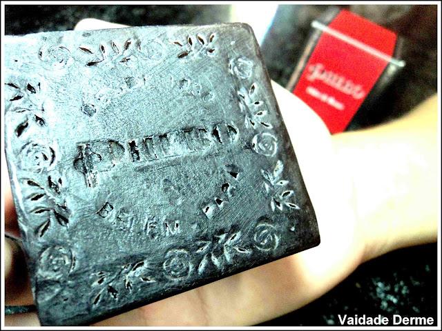 Sabonete Odor de Rosas da Phebo, sabonete preto, banho