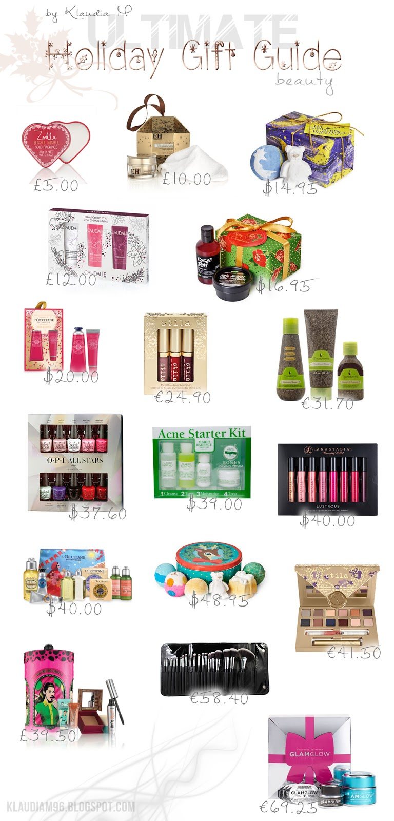 holiday gift guide beauty makeup 2015