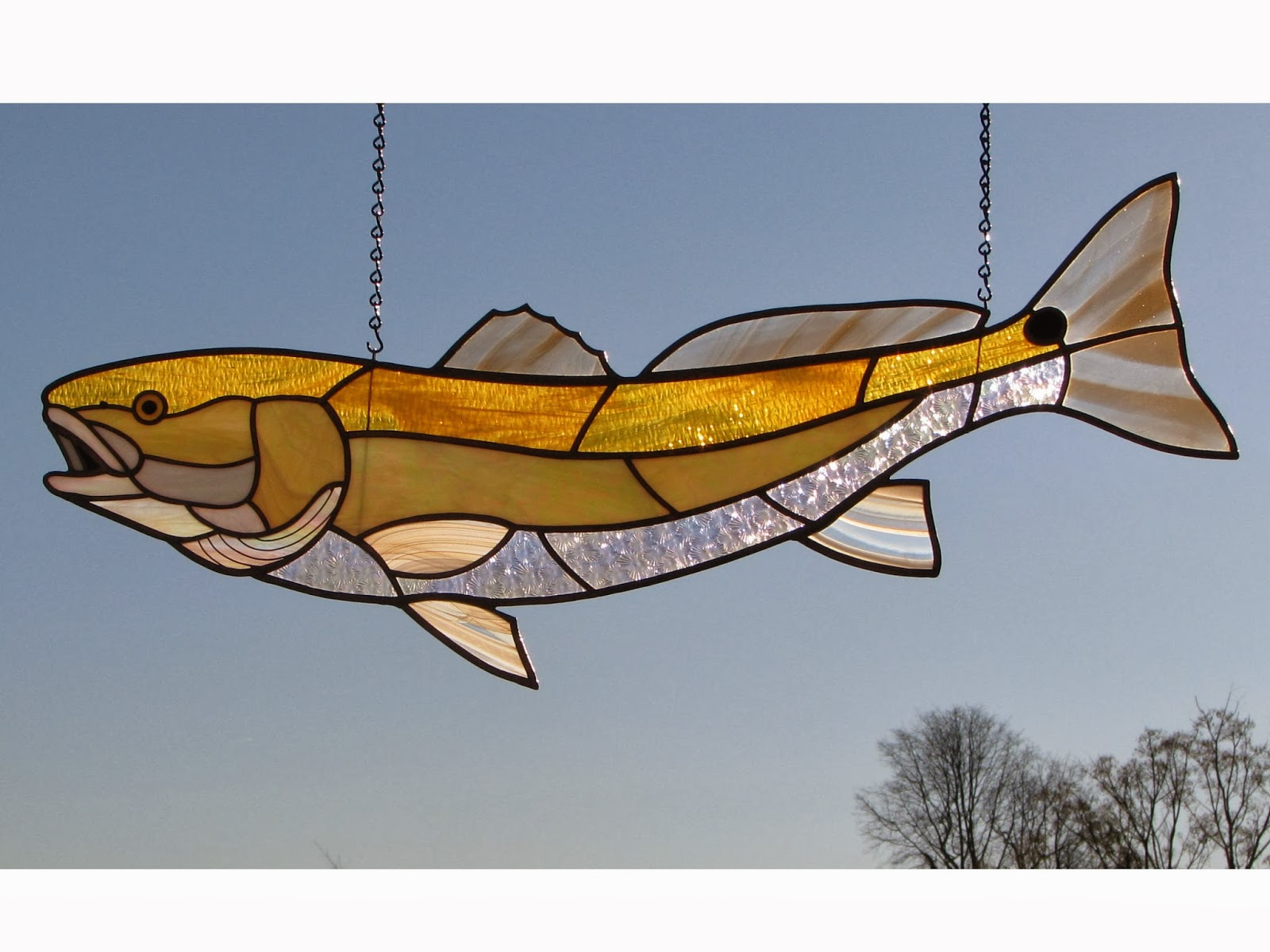 Stained glass taxidermy for Stained glass fish patterns