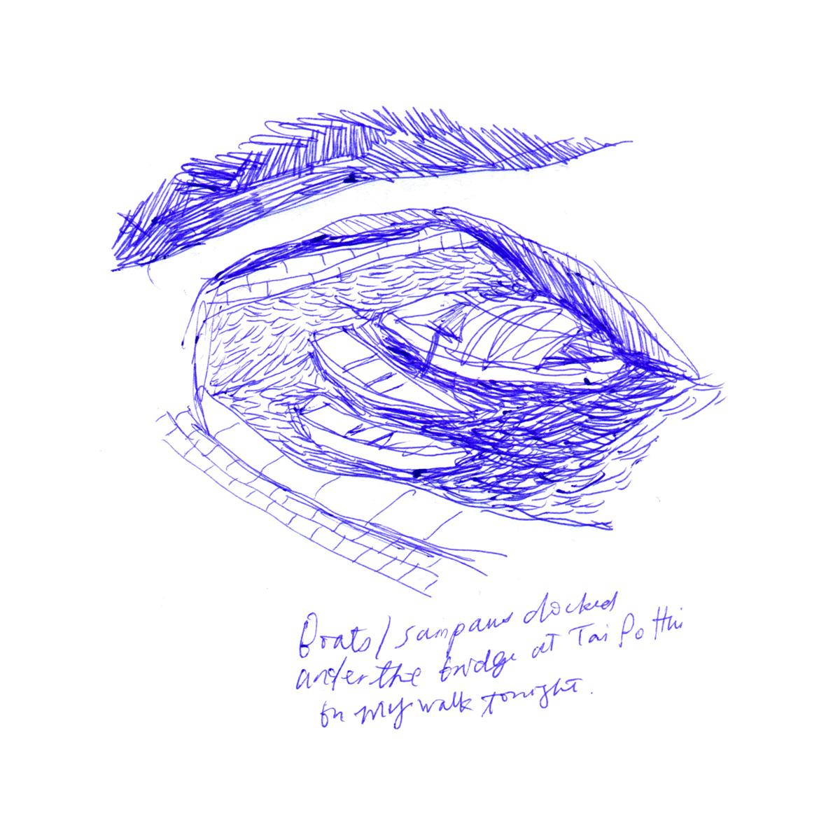 Kitty N. Wong / Tai Po at Night Sketch