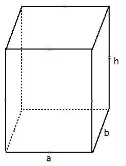 תיבה - נפח, שטח פנים ומעטפת