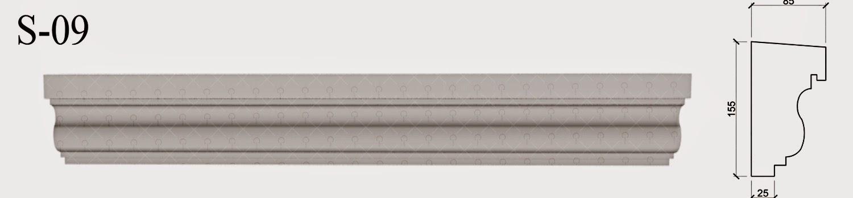 solbanc profile decorative exterior din polistiren pentru ferestre