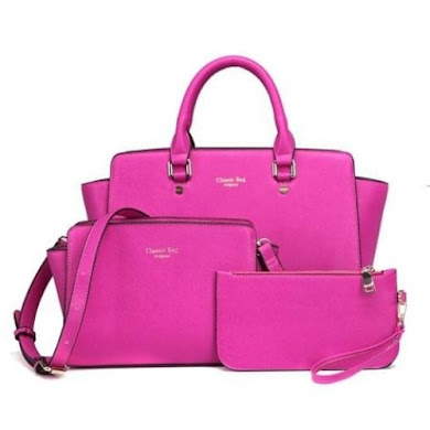 AA FASHION BAG ( 3 IN 1 SET) (ROSE)