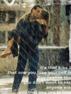 Love Couple Kiss In Rain: - Romantic Love Quotes