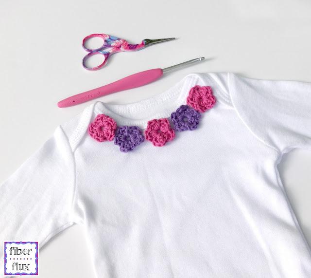 Fiber Flux: Free Crochet Pattern...Sweet Floral Infant Shirt!