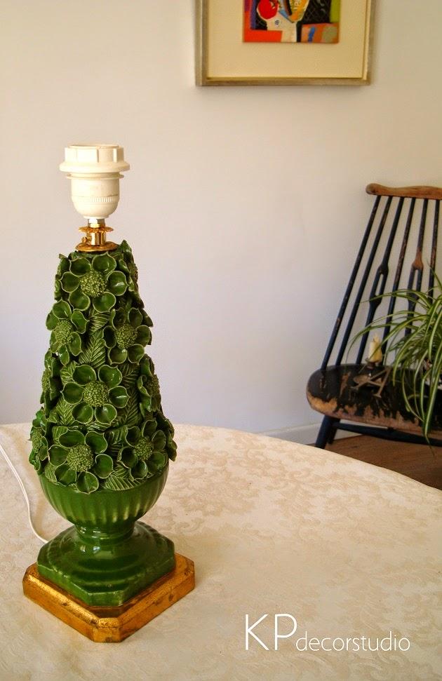 Lámpara manises en buen estado, baratas, restauradas, online, tienda vintage valencia.