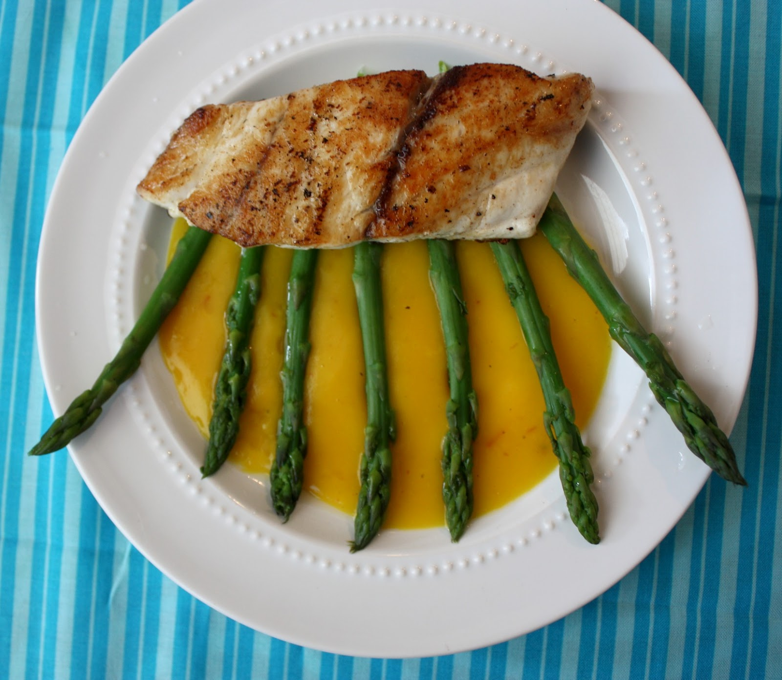 Emerald rice cooking redfish with asparagus and saffron sauce for How to cook red fish