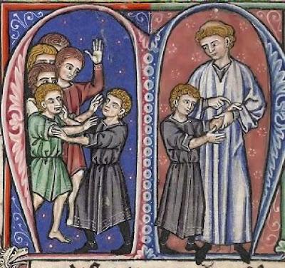 Descoberta da doença do jovem príncipe, futuro Balduino IV