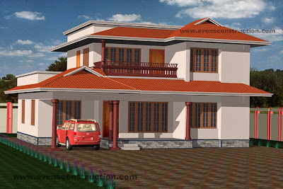 kerala house elevation design2 evens construction pvt ltd 3d plan gallery,Kerala House Plans With Elevation