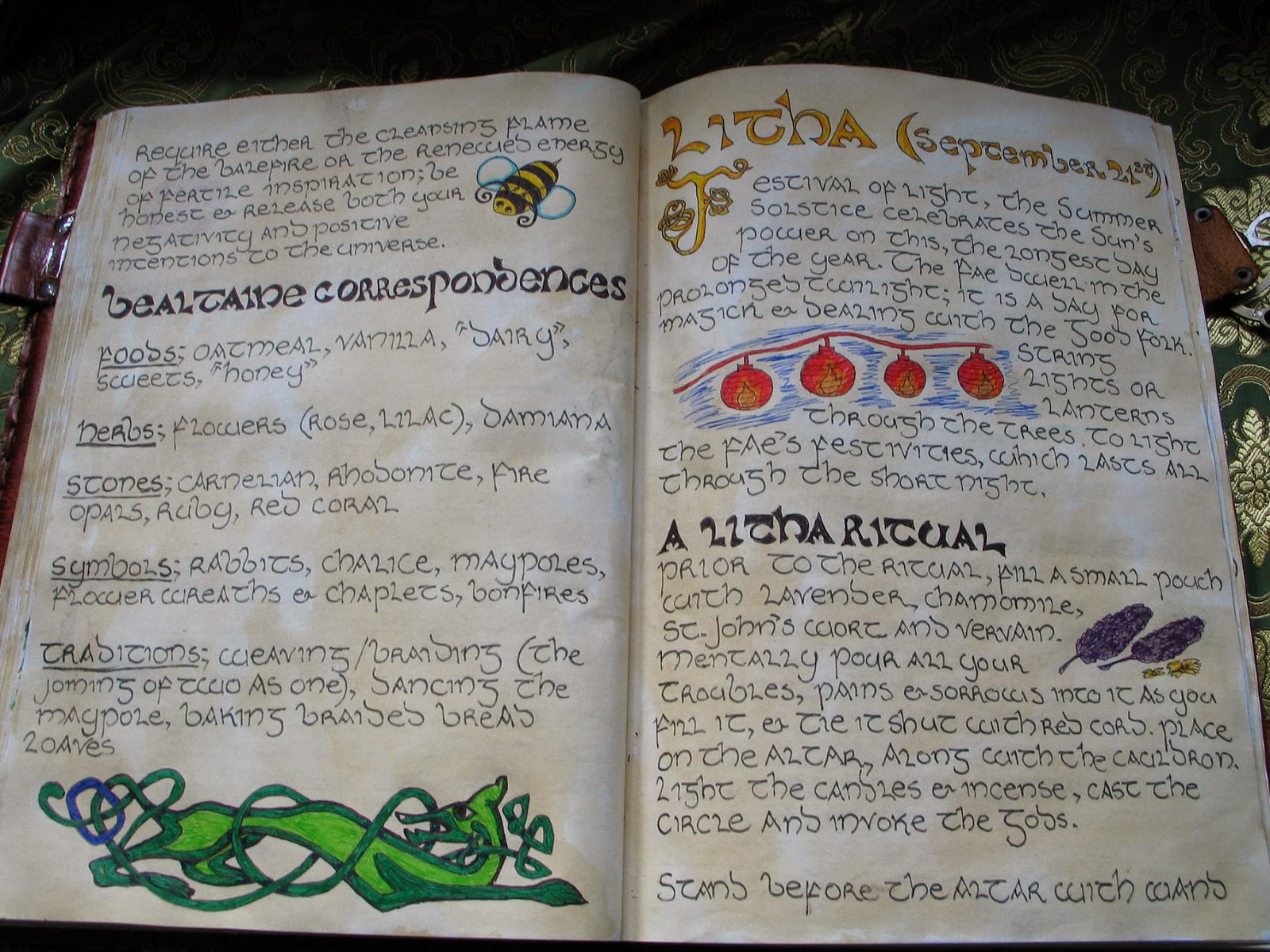 how to create your own book of shadows