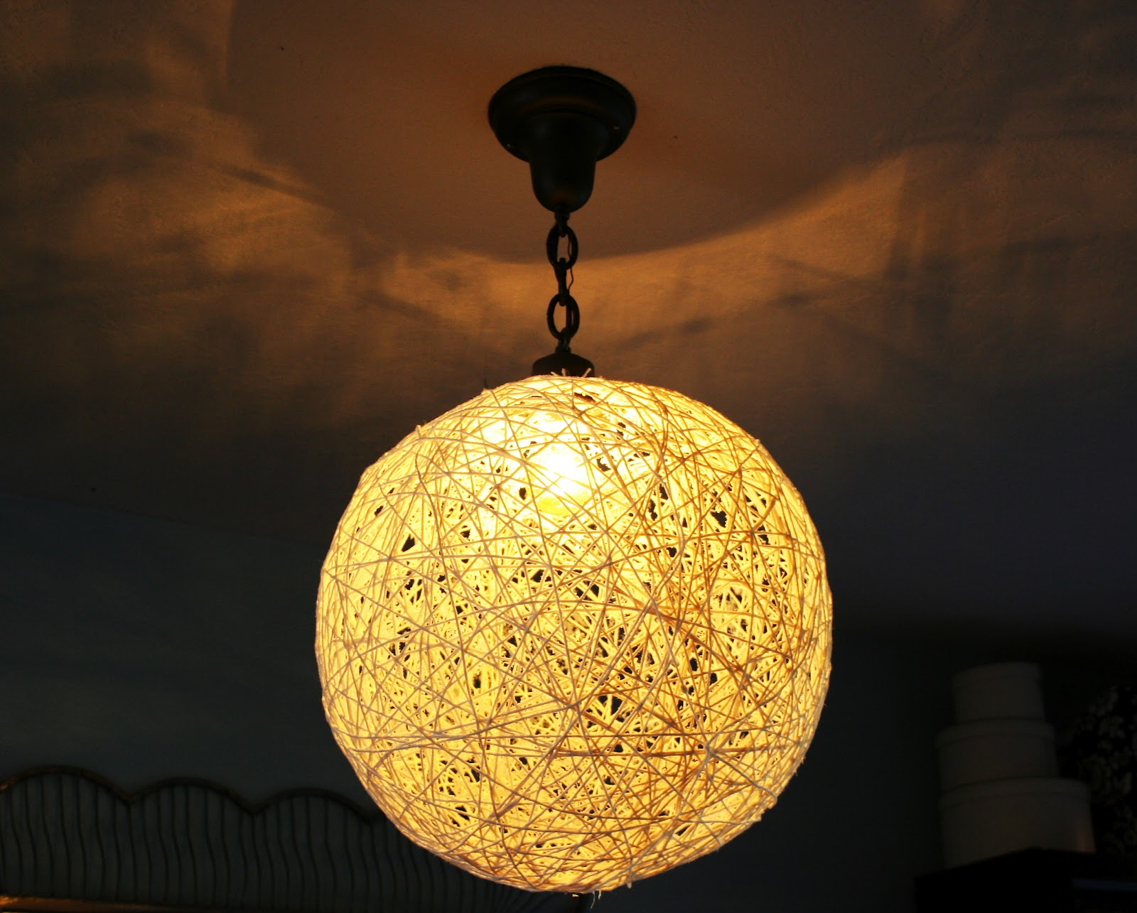 the plumed nest make string pendant light