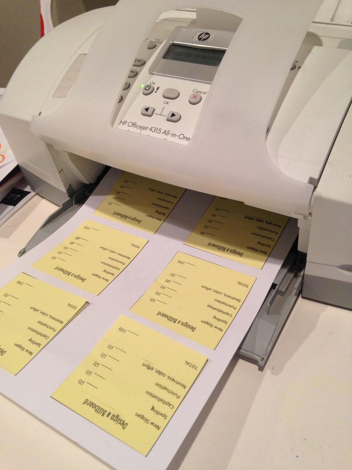 Lesson deli mini post it rubrics for Post it labels templates
