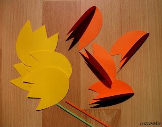 jak zrobić tulipany