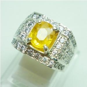 Sapphire, Batu Permata Safir Kuning, Batu Yakut, Jual Cincin Batu