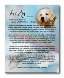 Personalized Pet Memorials - Many Styles