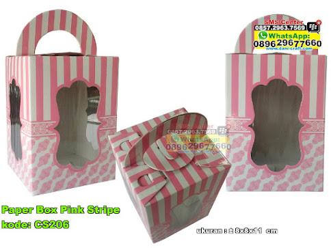 Paper Box Pink Stripe