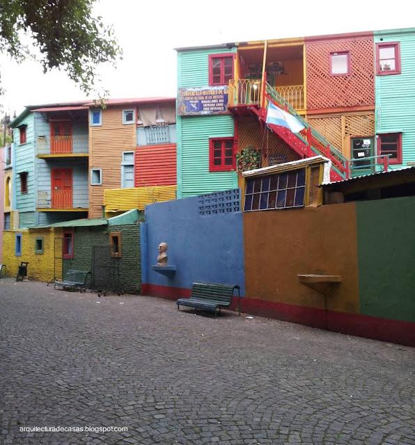 Sector de Caminito en La Boca