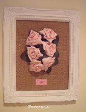 Cuadro rosas papel