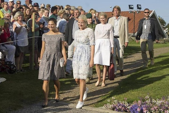 Princess Victoria And Princess Mette-Marit Visit Halden