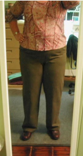 """The """"Turkey Pants"""" from 2008 . Too big now. Yay!"""