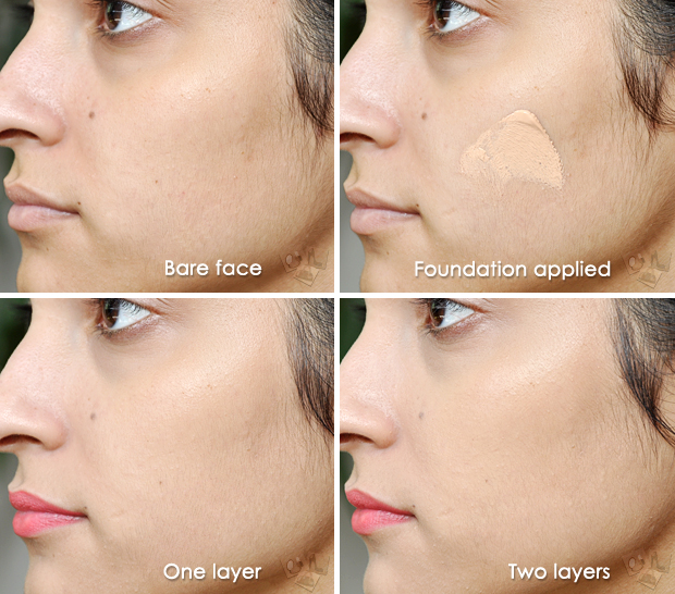 Rivaj UK Perfect Coverage Mineral Foundation in 'Natural Beige' (before & after)