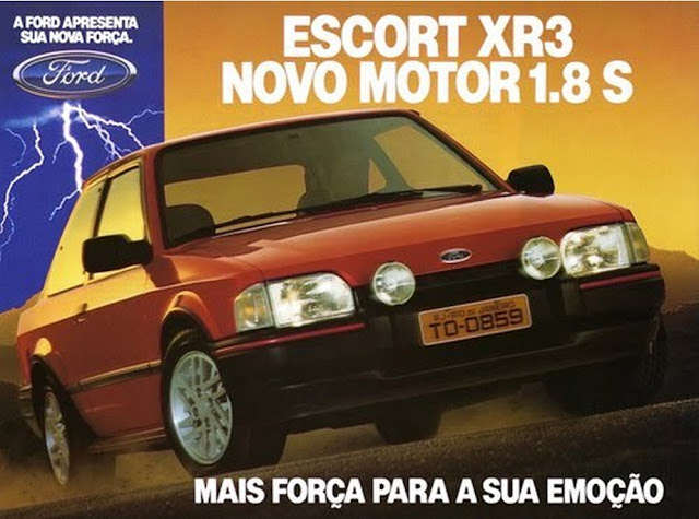 Propaganda do Escort da Ford, em 1993