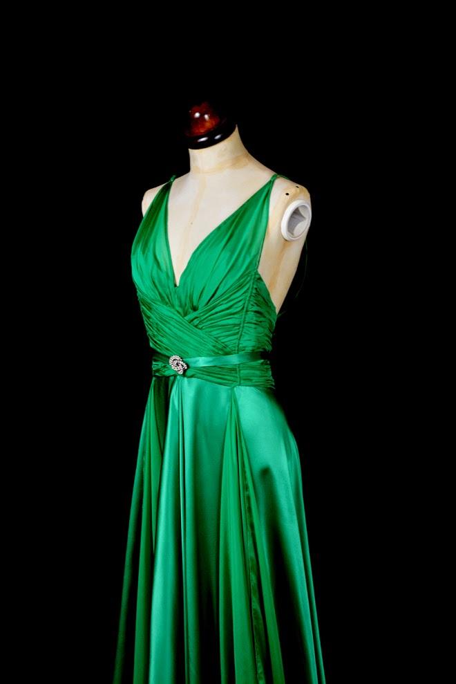Alexandra King - Vintage Inspired Clothing. : Emerald Green Satin ...