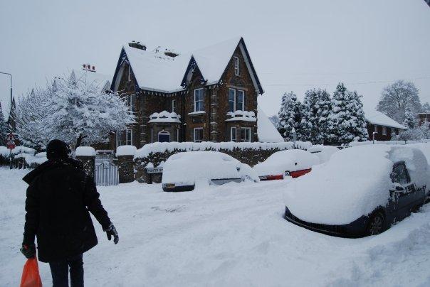 Snow in Guildford Surrey