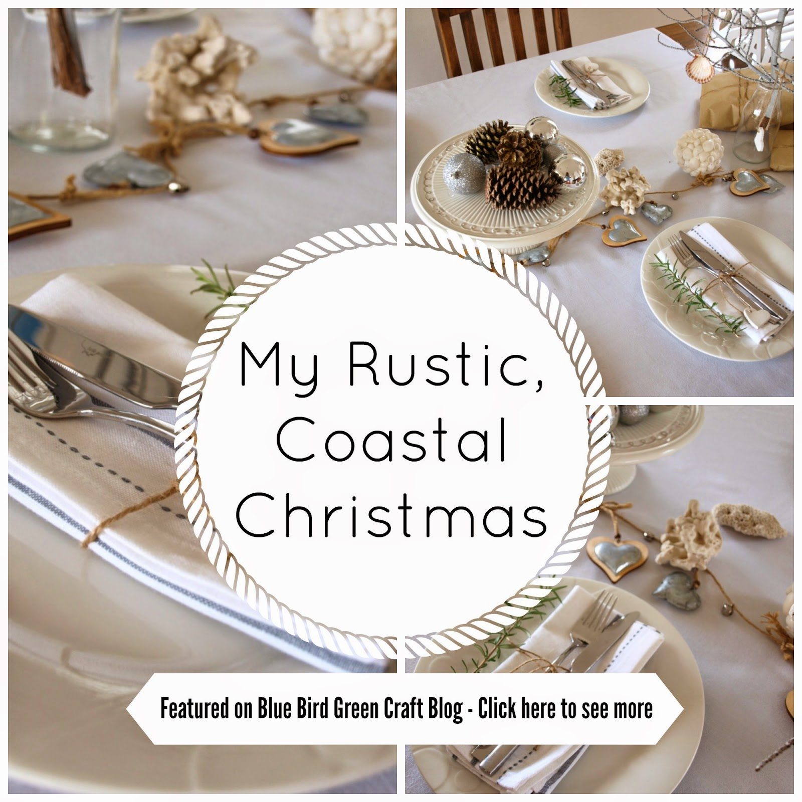 My coastal rustic christmas table setting featured on she loves to have you thought about how you are going to style your christmas table setting this solutioingenieria Images