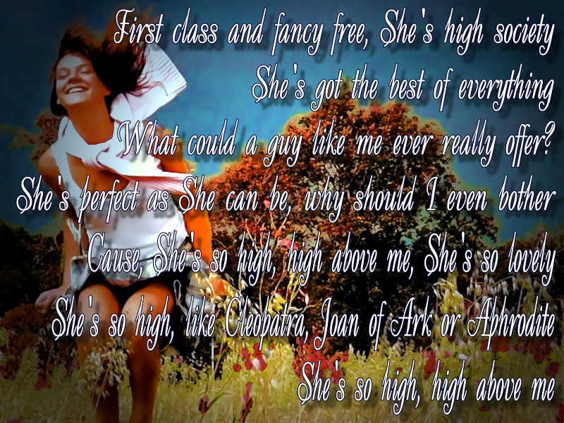 Lyric country songs lyrics : Song Lyric Quotes In Text Image: She's So High - Kurt Nilsen Song ...