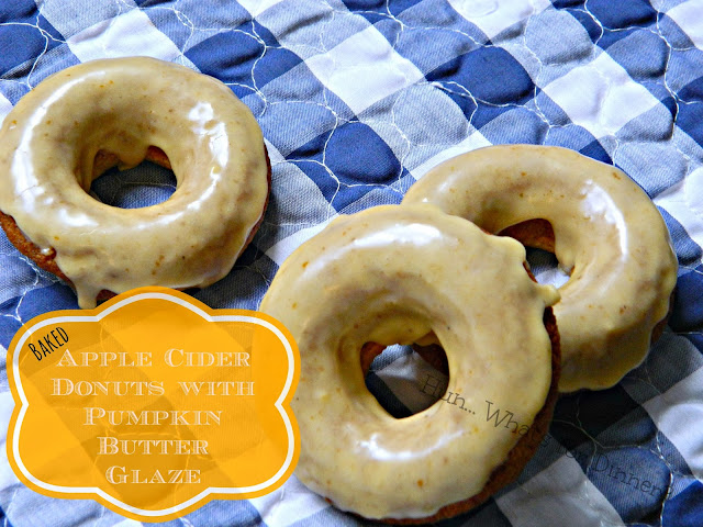 Baked Apple Cider Donuts with Pumpkin Butter Glaze