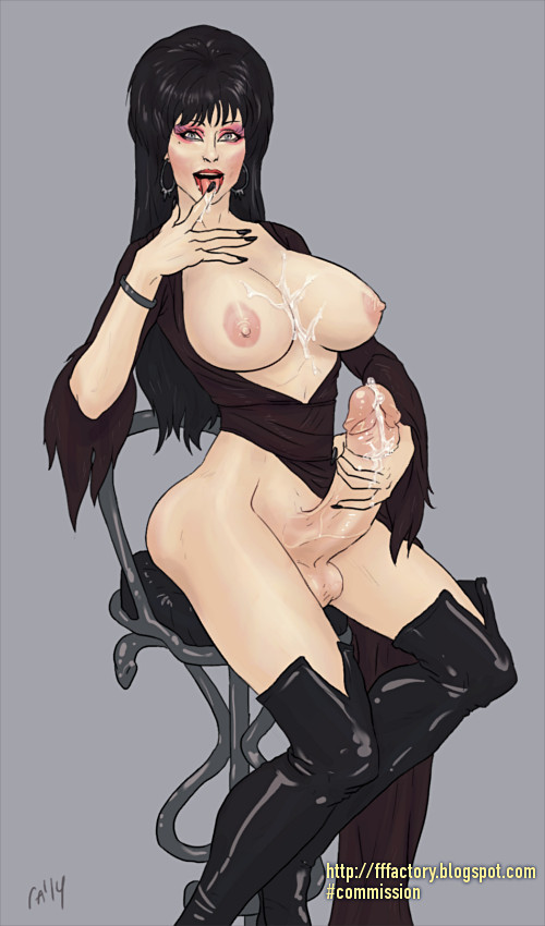 фута футанари эльвира повелительница тьмы elvira cassandra peterson porn fanart futanari dickgirl cum on tits licking jizz leather