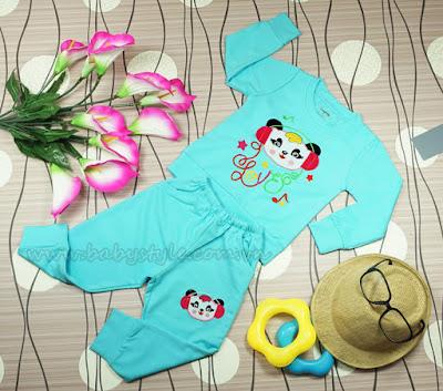Bộ Gấu Nghe Nhạc dành cho bé trai màu Xanh - Babystyle.com.vn