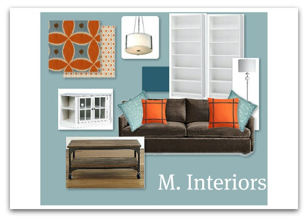 Orange And Blue Living Room: Local Design Board Part 47