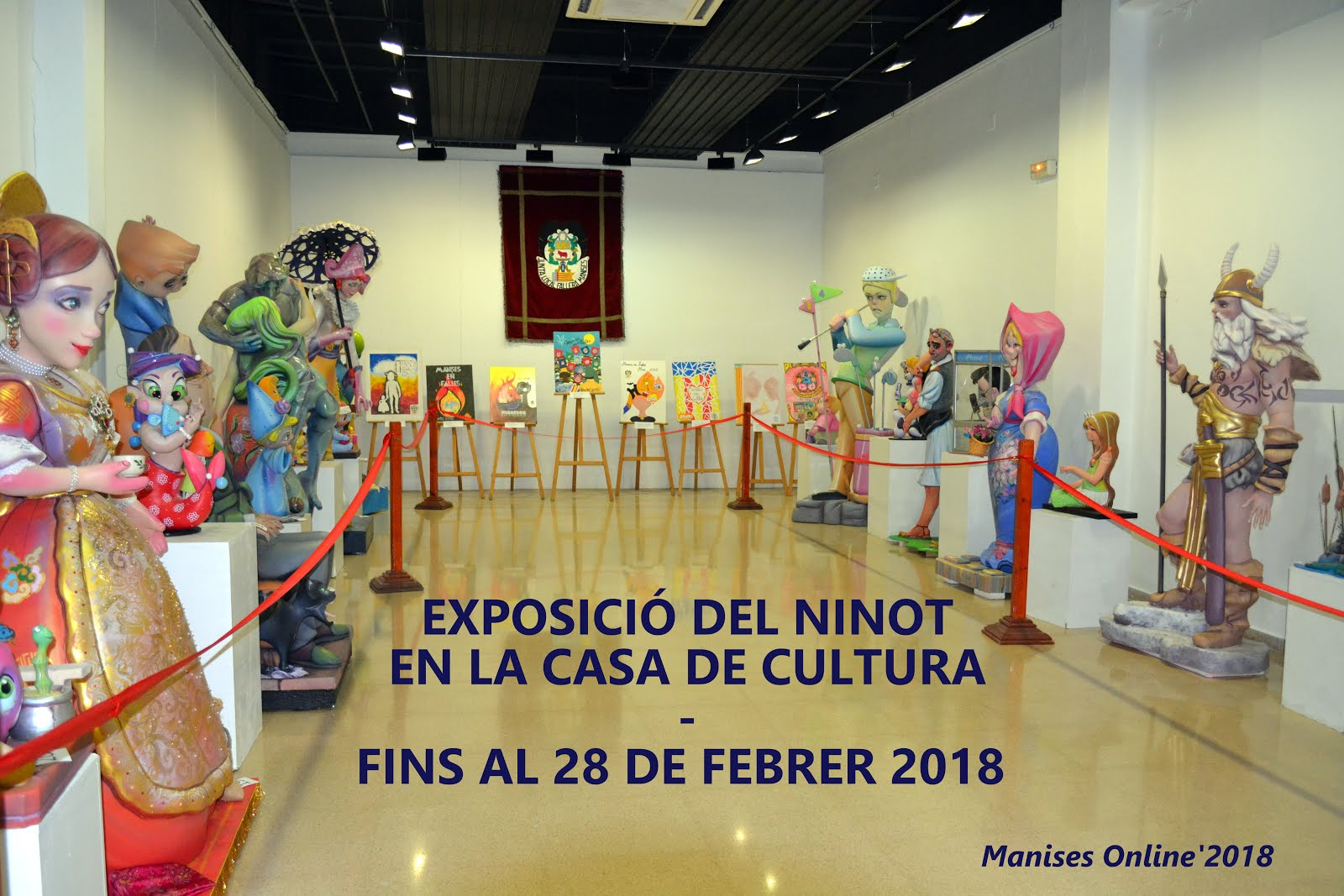 23.02.18 LES FALLES DE 2018: L'EXPOSICIÓ DEL NINOT EN LA CASA DE CULTURA DE MANISES