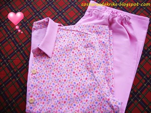 pijama feminino rosa