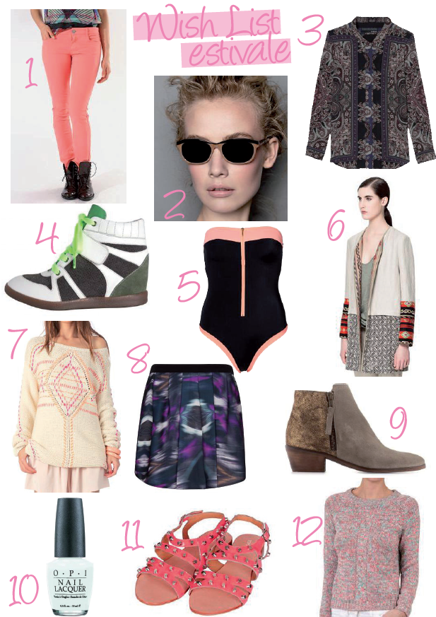 Shopping Wish List Estivale Mode Fashion Maje NafNaf The Kooples 3 Suisses Vero Moda Zara Antik Batik Mango Minelli Sephora TopShop Hooray Monoprix
