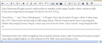 cara menambahkan read more pada blog
