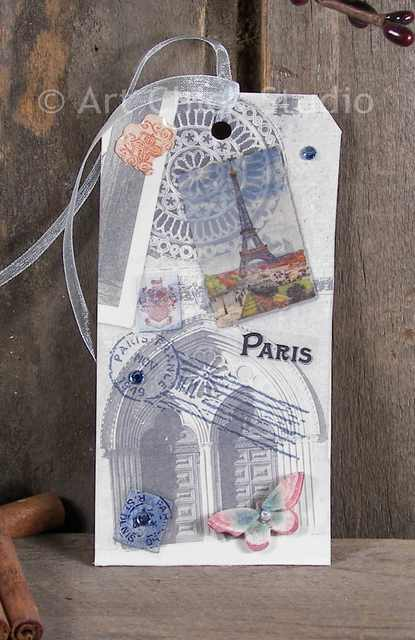 Paris Arches Altered Tag