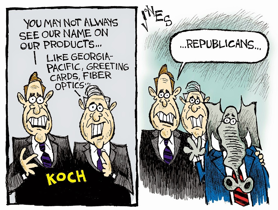 Clay Jones: Koch brothers' products.