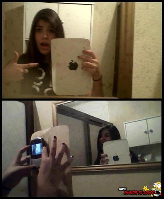 Como tirar foto com iPad sem ter um...
