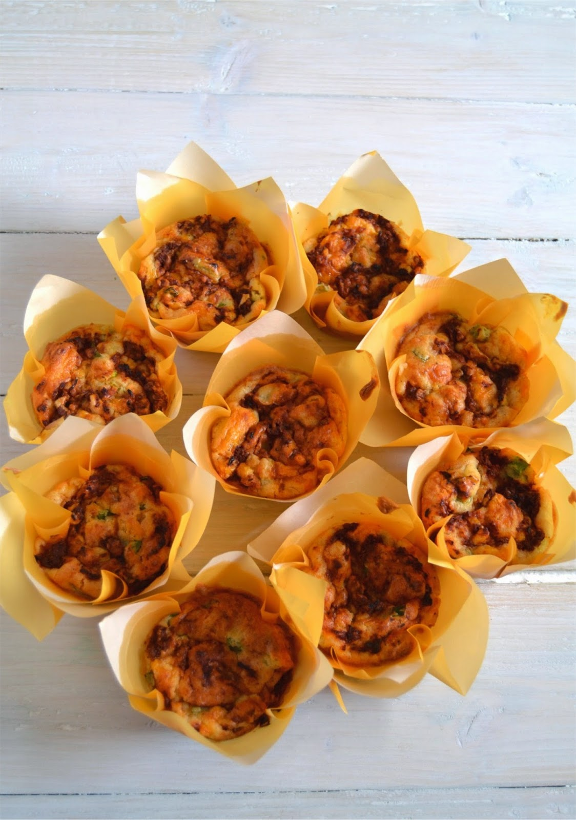 Cheese & Spring O Muffins with Sun-Dried Tomato Swirl