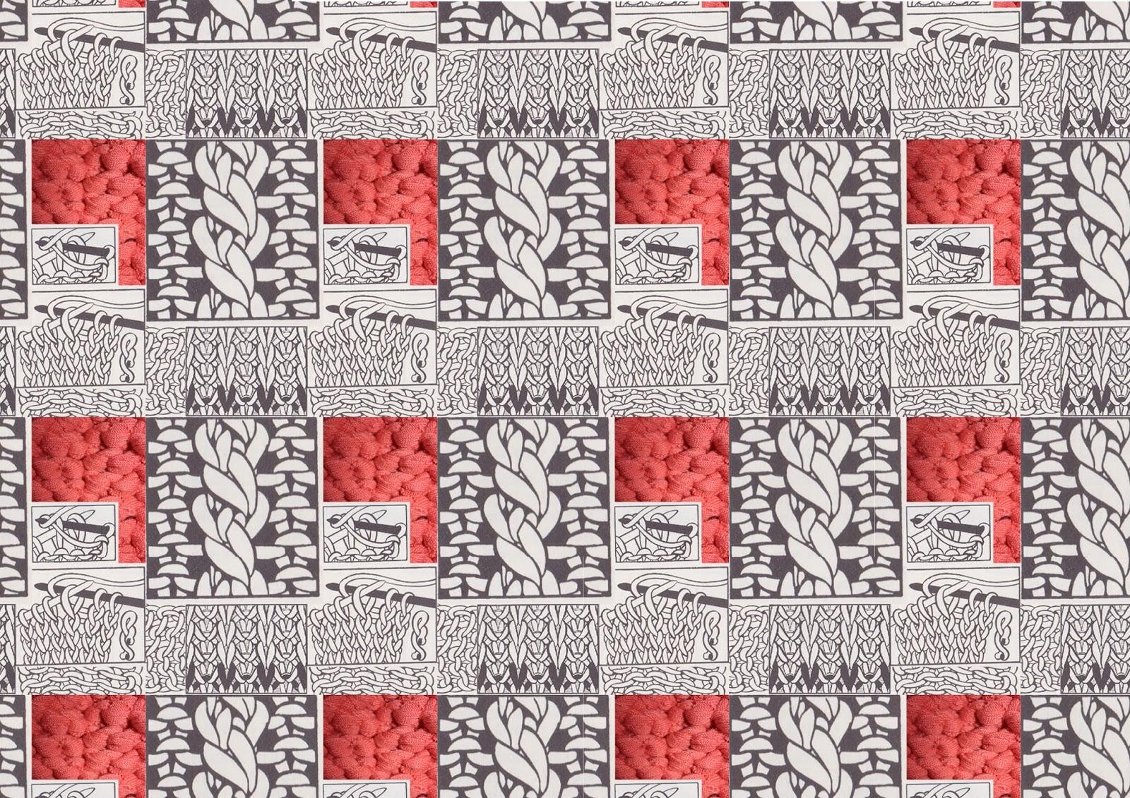 Knitting Pattern Diagrams : I am EJP: Knitting Pattern Diagram Digital Prints