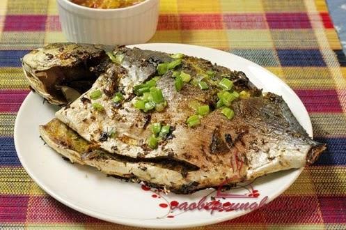 Món cá chim nướng riêng sả cực thơm ngon